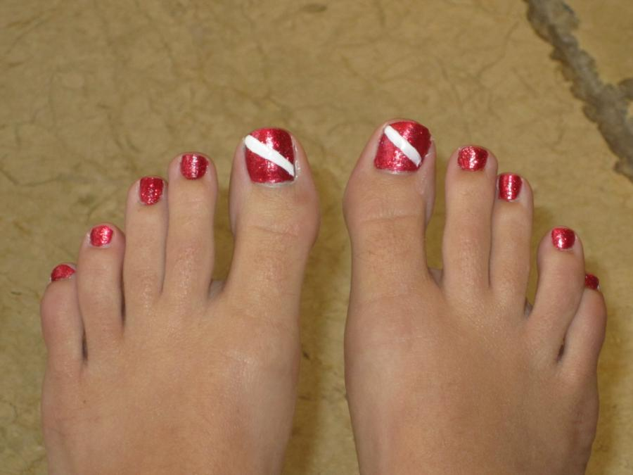 My Dive FLag Toes
