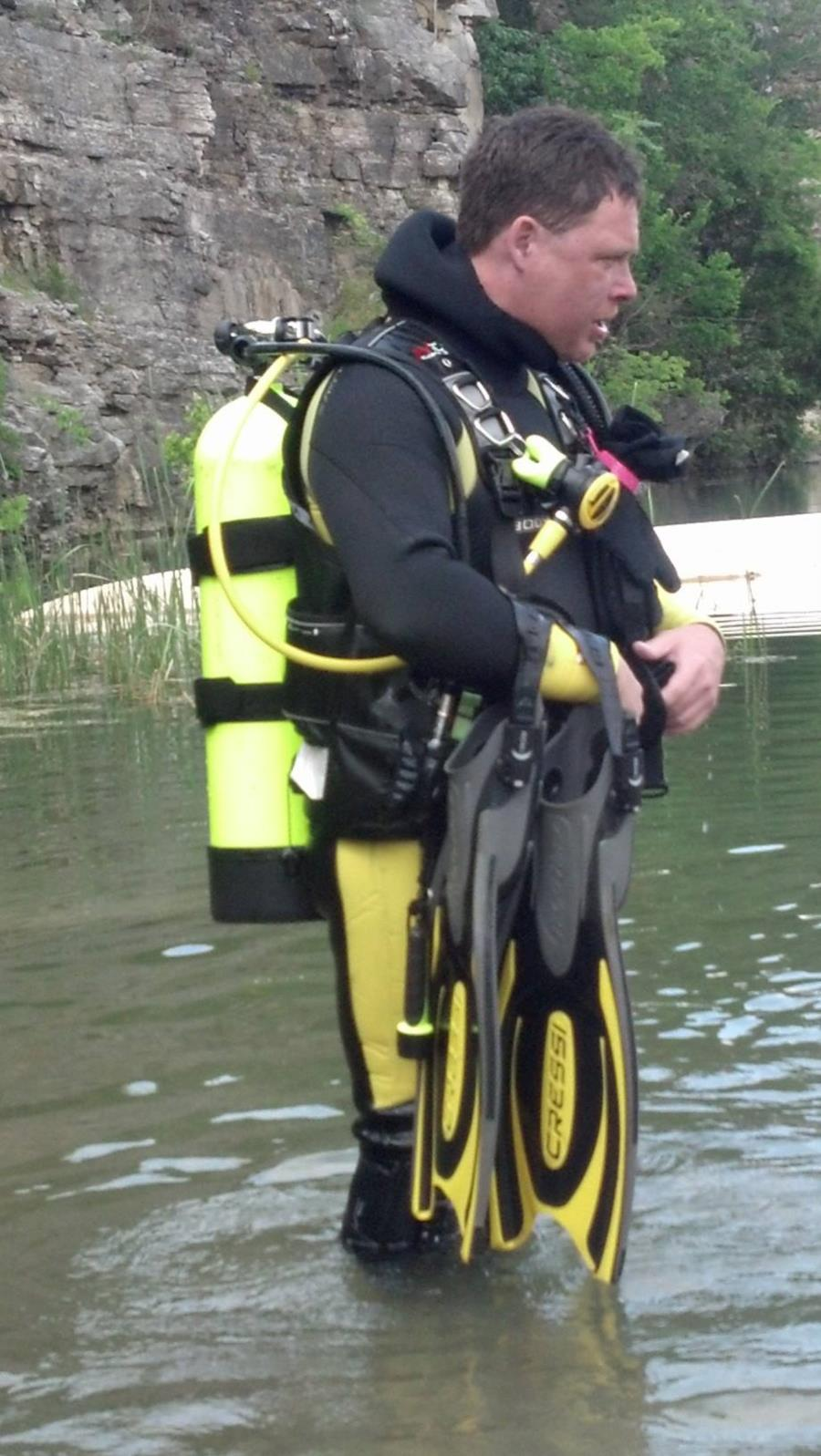 Diving at Jeff's Quarry