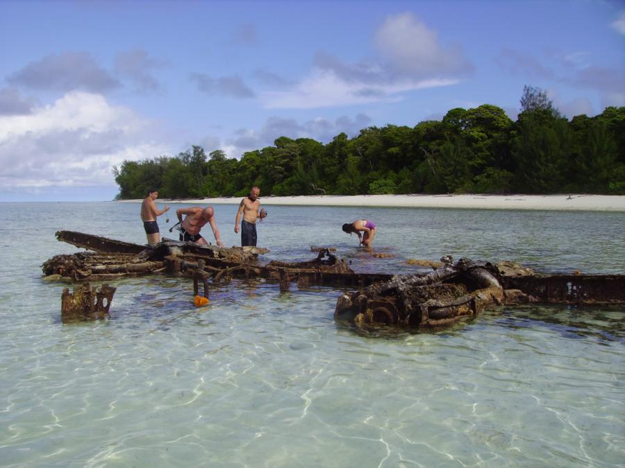 plane wrecks at Pulau Rouw