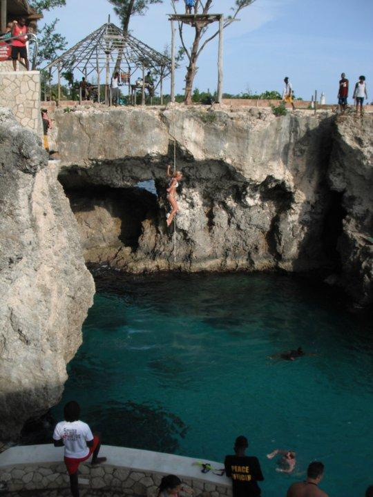 Cliff Jumping Jamaican style