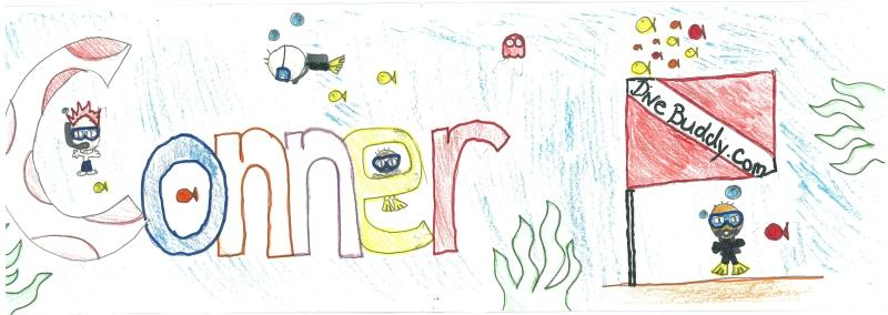 DiveBuddy picture my son, Conner, drew.