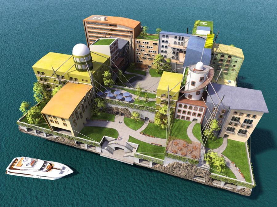 Seasteading - Example Ocean City