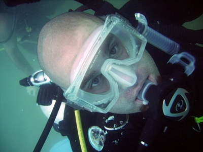 Close up of me underwater.  I need to wear a lot of sunscreen.