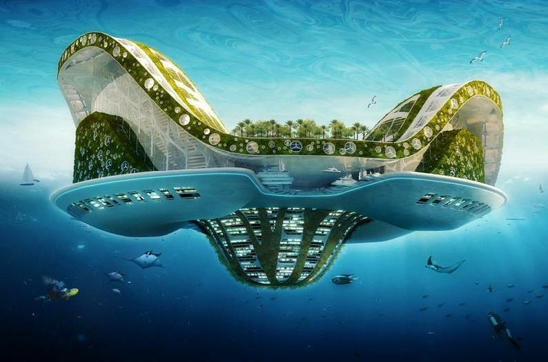 Lilypad - a floating island by Vincent Callebaut Architectures