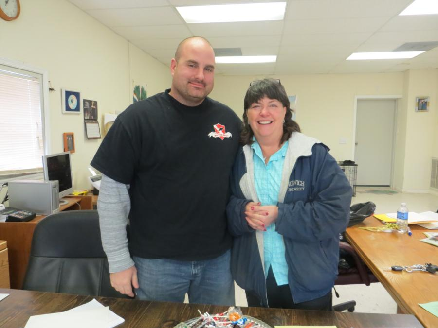 Owner of Loch Low Minn, Stacy Low and I