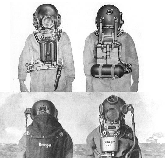 Scuba Diving Gear in History: 1910 - 1912