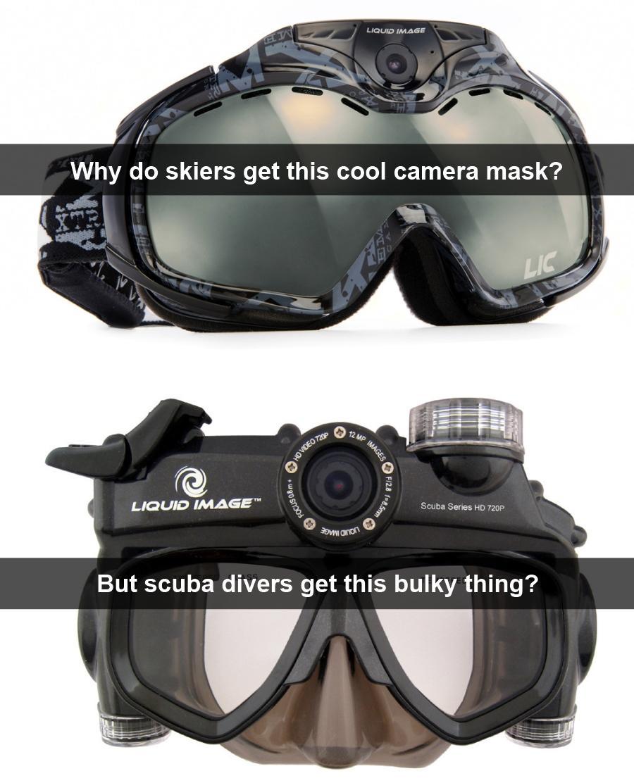Liquid Image Masks - Ski vs. Scuba