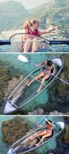 Clear Blue Molokini 2 Passengers Polycarbonate Kayak - $2300