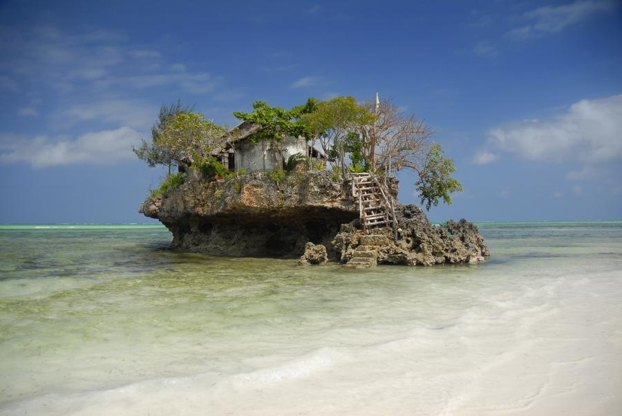 The Rock Restaurant - Indian Ocean, off the coast of Zanzibar, Tanzania
