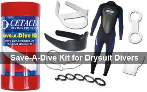 Save-A-Dive Kit for Drysuit Divers - Wetsuit Included