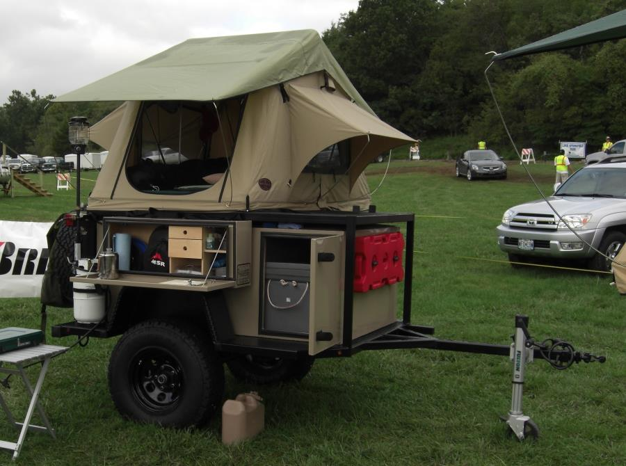 Small Trailer With Roof Top Tent