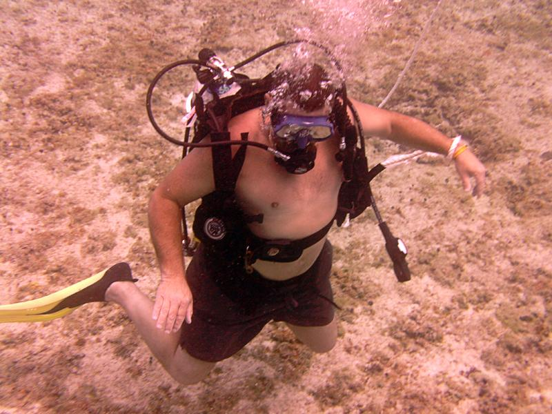 Tom diving Cozumel
