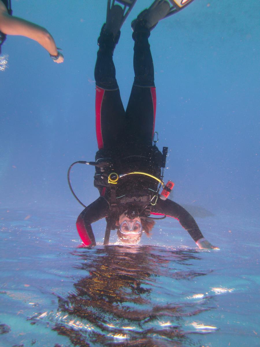Underwater Handstand