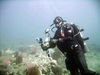 Hal in DUI Drysuit, Sea and Sea camera Anacapa California