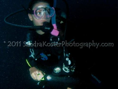 Jennifer Carr Night dive