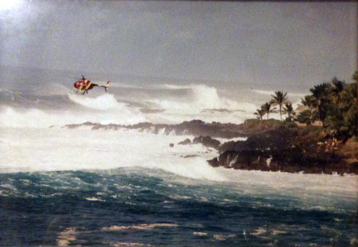 Wiamea Bay Surfer down
