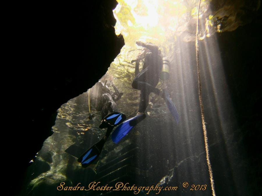 Divers entering Paradise