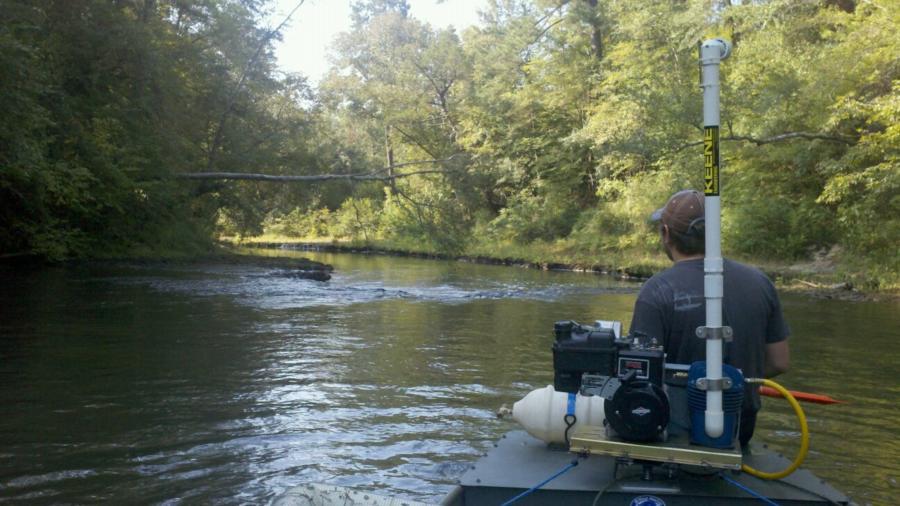 floating down Pigeon creek