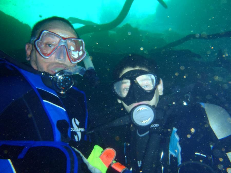 My New Dive Buddy - My Son Emanuel Vega at Cat Fish Hole (Manatee Springs, FL)