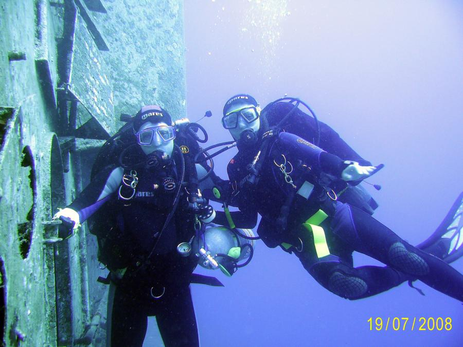 Diving with my wife