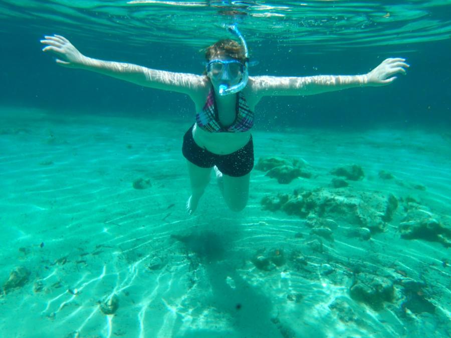 Floating in Three Sisters Springs