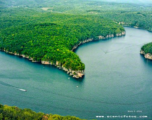 Aerial Photo of Long Point on Summersville Lake