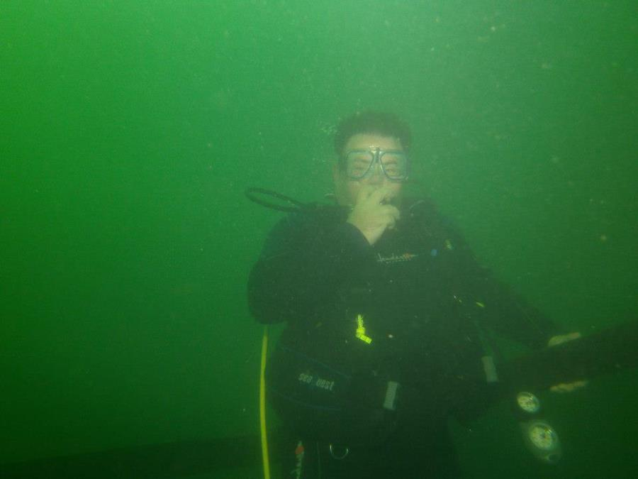First time in open water