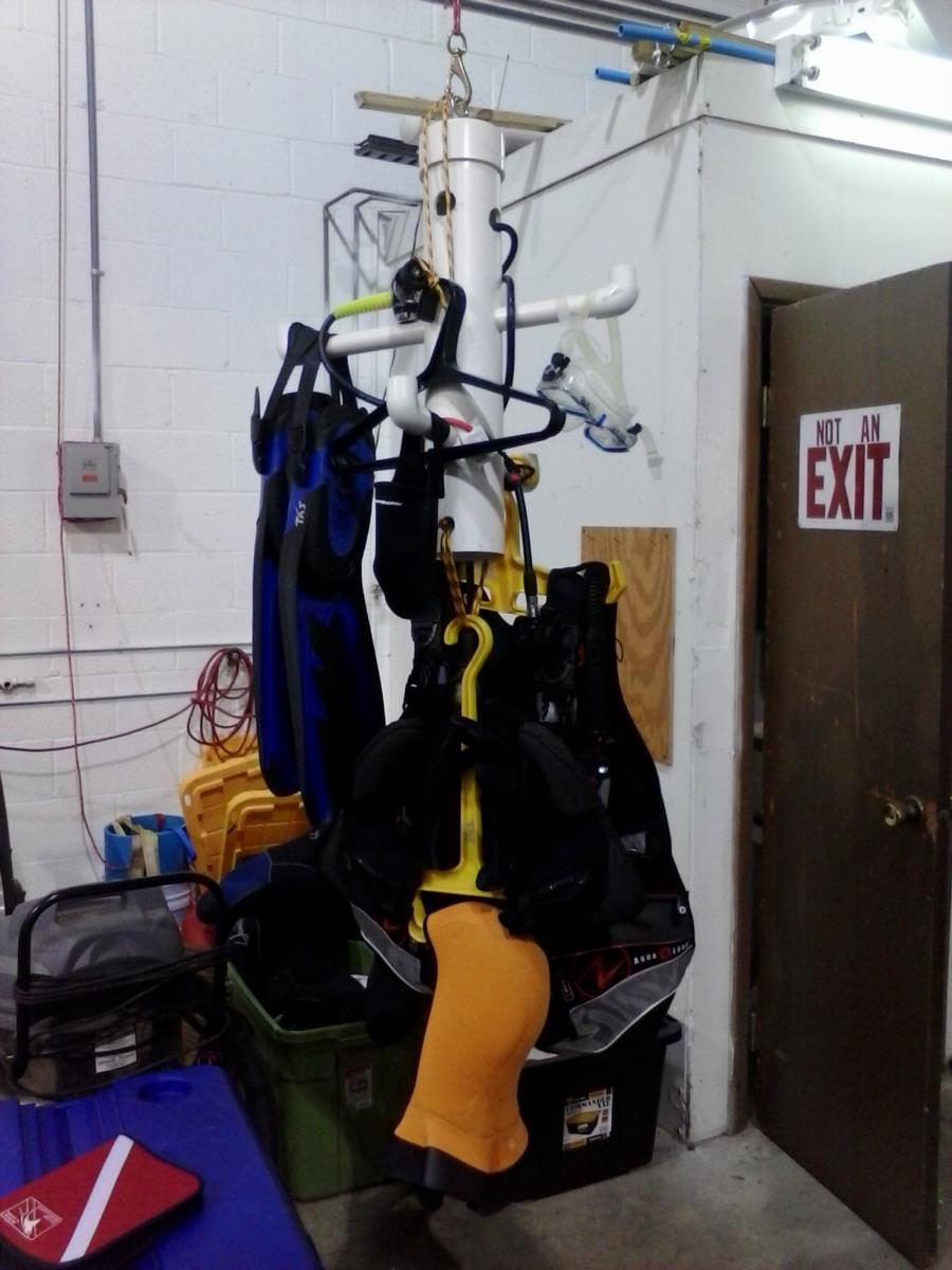 Gear rack at station