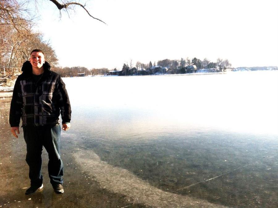 Christmas on the frozen lake in Oconomowoc LacLaBelle