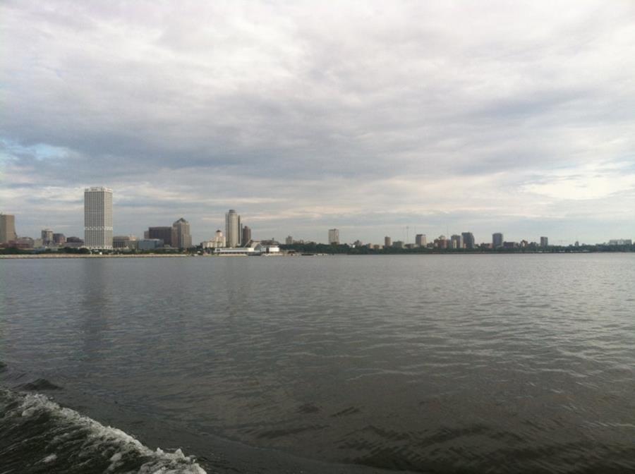 view of Milwaukee from Lake Michigan