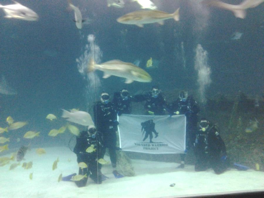 WWP Scuba Divers at the NC Aquarium
