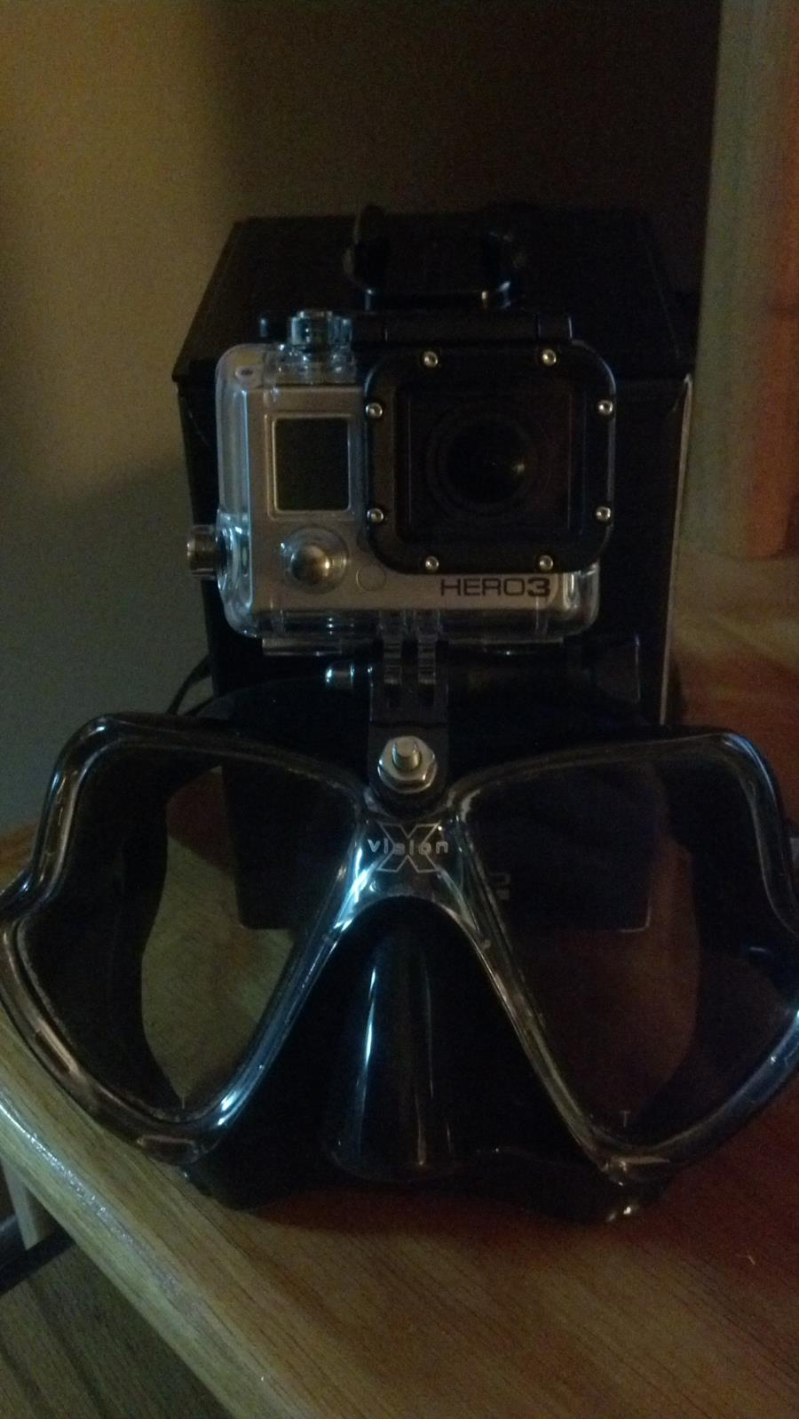 Gopro mount on mask