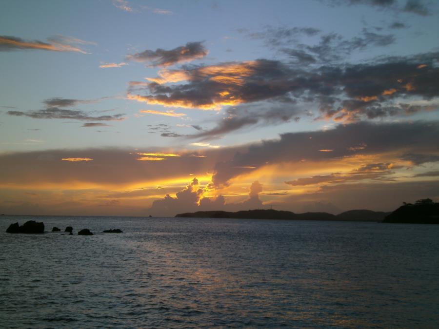 Sunset cruising in St Thomas