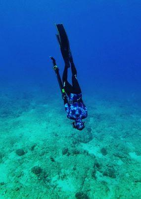 freediving on the hunting