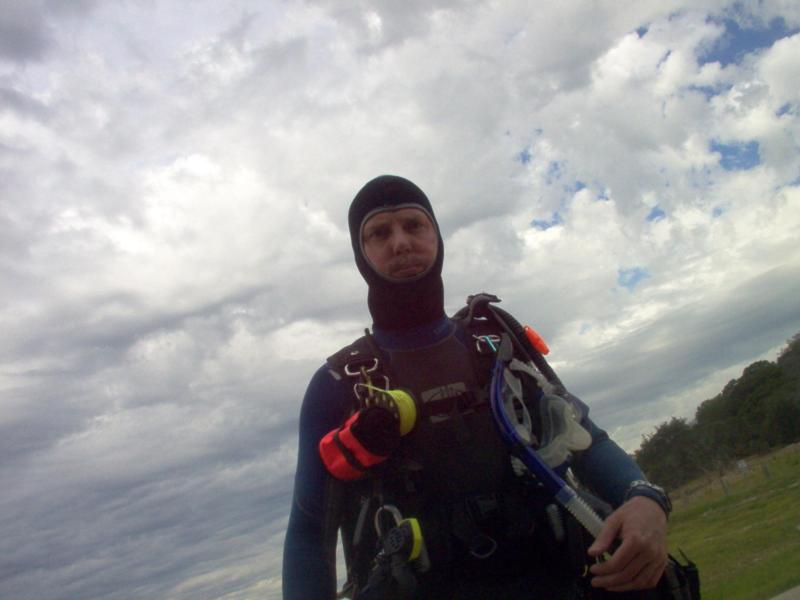 walking out to dive
