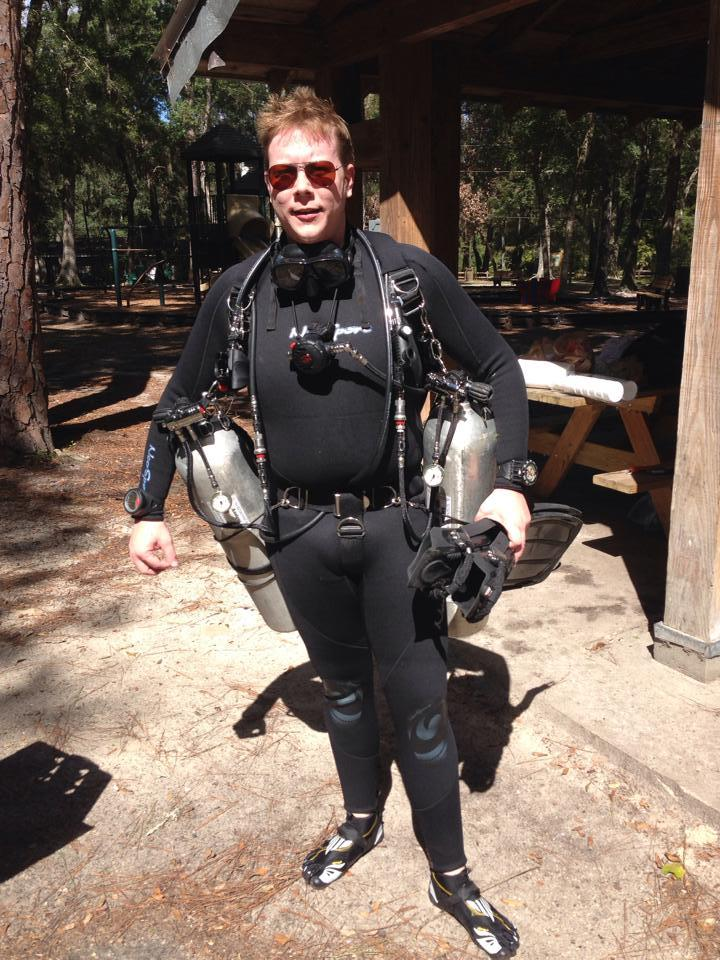 Me all geared up at Manatee Springs