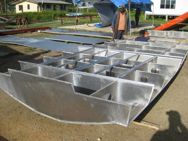 Matava's new dive boat comes together