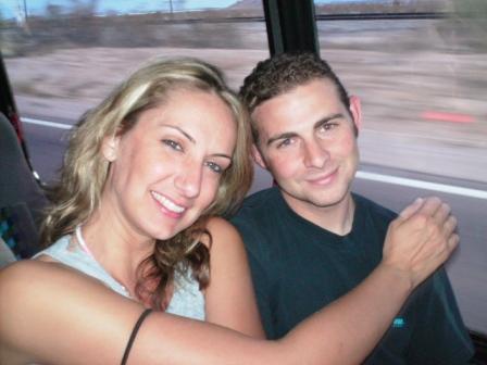 Katrina and Brandon heading to MX on the scuba bus
