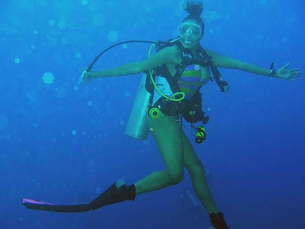 Valentina diving in Grand Cayman Oct. 09