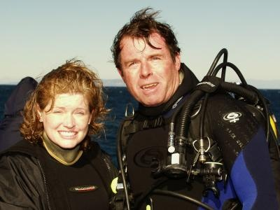 Dr. Bill and OC Diving News` Debbie Karimoto