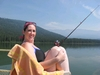 On Fish Lake, WA, fishin`, caught a fish that was thiiiiiiiiiiiiiiiiiiiiiiiiiiiiiiis BIG. lol
