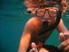 Ben snorkling at Vortex Springs