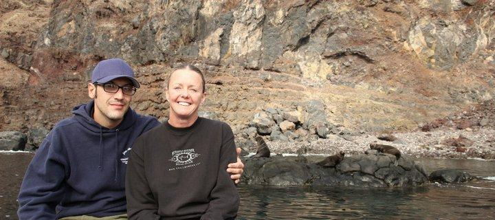 Me with Joe Romeiro. Fur seals in the background