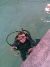 my son joe in the pool