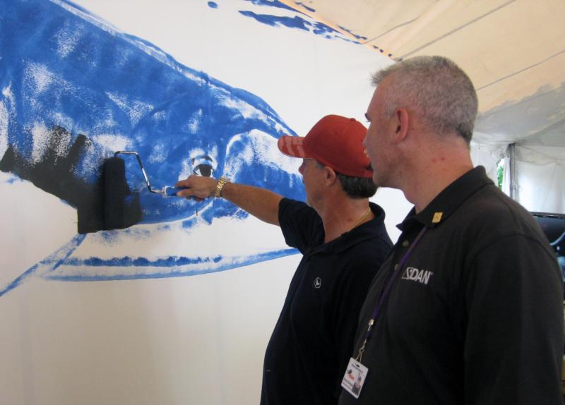 Wyland and Danny at BSA 2010
