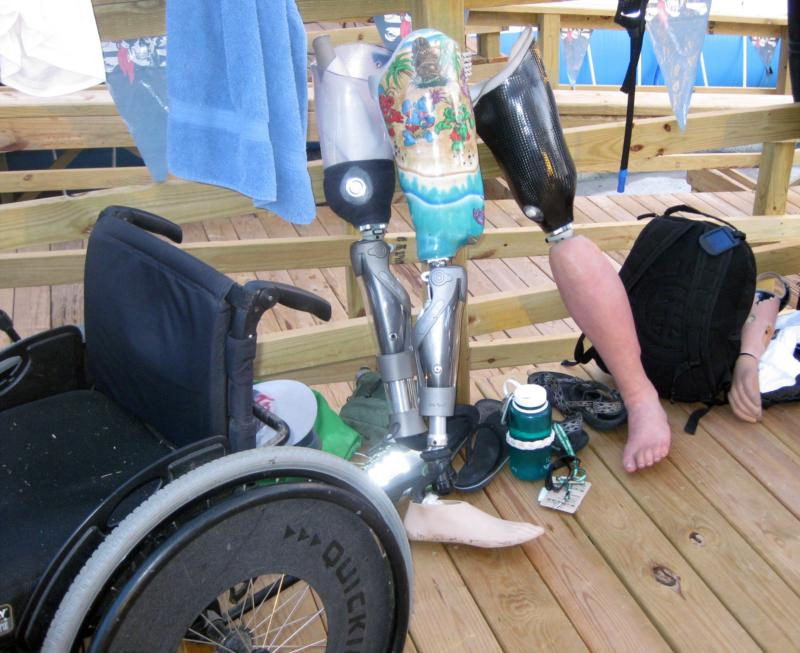 SUDS Diver's Prosthetics at pool
