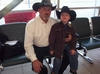 Me and my son Christopher at Edmonton airport