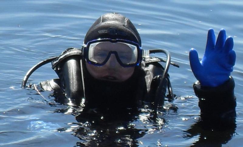 diving in my drysuit