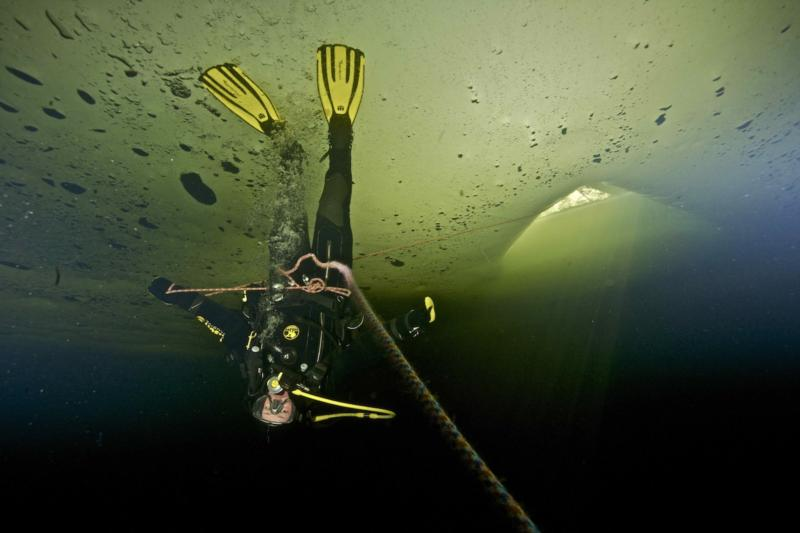 Ice Diving in Russian White Sea