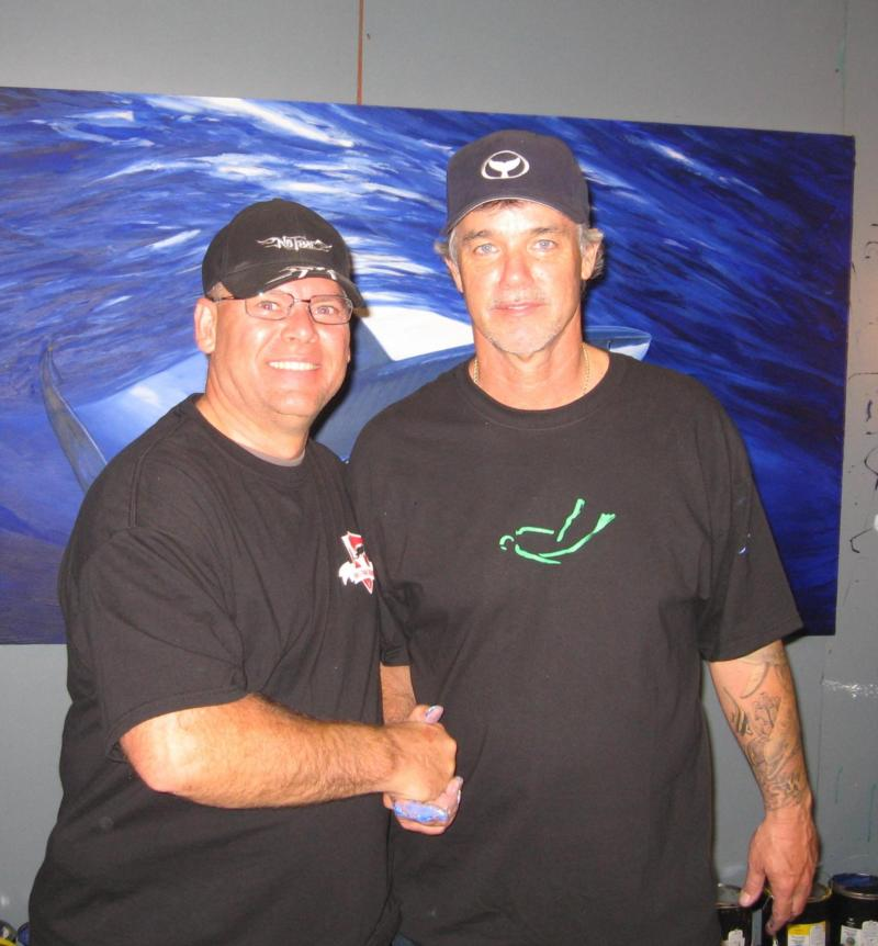 With Wyland at SCUBA Show 2010